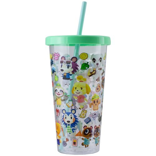 Animal Crossing 23.7 oz. Plastic Cup and Straw Travel Cup
