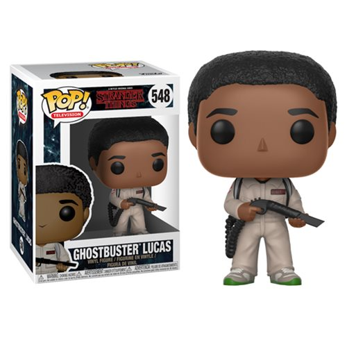 Stranger Things Ghostbusters Lucas Pop! Vinyl Figure #548, Not Mint