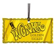 Willy Wonka and the Chocolate Factory Golden Ticket Hanging Acrylic Print