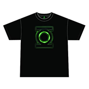 Green Lantern Movie Glow Logo Black T-Shirt