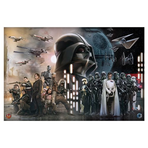 Star Wars Alliance Empire Collage Metallic Canvas Print