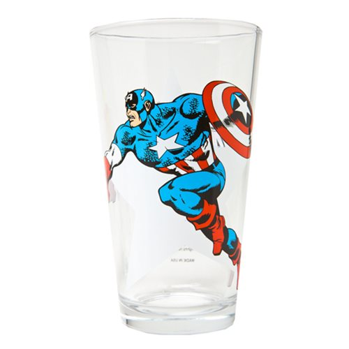 Captain America Classic Collection Toon Tumbler Pint Glass