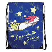 Space Dandy Meow Drawstring Bag