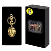 Suicide Squad The Joker Oval Golden Pewter Key Chain - San Diego Comic-Con 2016 Exclusive