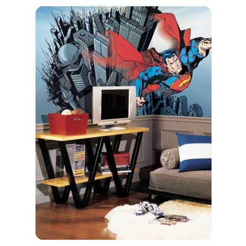 Superman Chair Rail Giant Ultra-Strippable Prepasted Mural