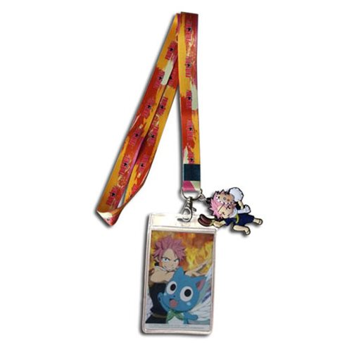 Fairy Tail Natsu and Happy Lanyard