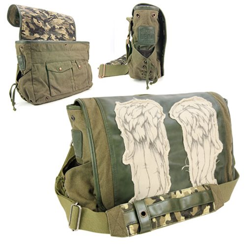 The Walking Dead Daryl Dixon Wings Fatigue Green Messenger Bag