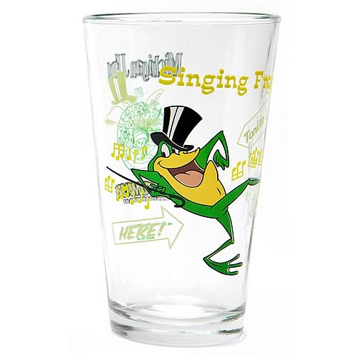 Looney Tunes Michigan J. Frog Toon Tumbler Pint Glass