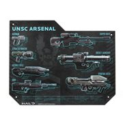 Halo Weapons Specs Tin Sign