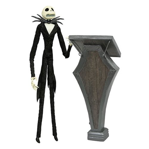 Nightmare Before Christmas Podium Jack Skellington Deluxe Coffin Doll