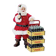 Coca-Cola Santa with Delivery Cart 10 1/2-Inch Tablepiece Statue