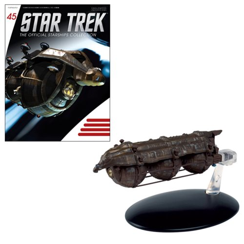 Star Trek Starships Malon Freighter Die-Cast Vehicle with Collector Magazine
