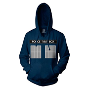 Doctor Who TARDIS Call Box Blue Hoodie