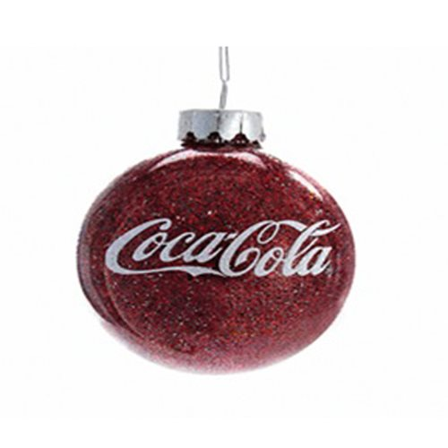 Coca-Cola Glittered 3-Inch Glass Ball