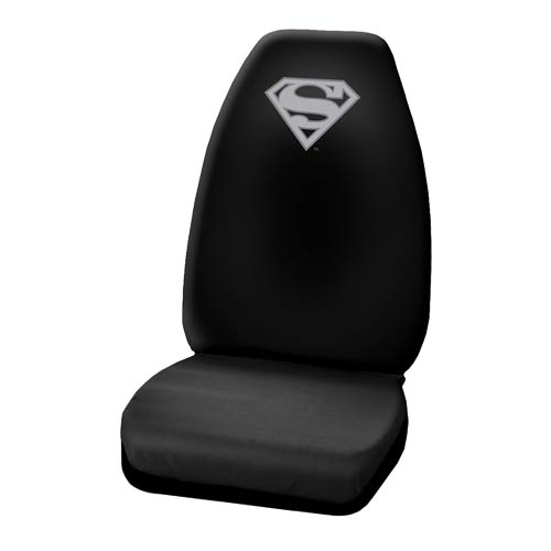 Superman Silver Logo High Back Seat Cover
