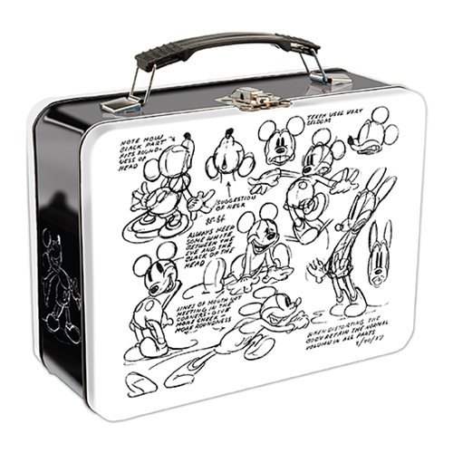 Mickey Mouse Sketch Large Tin Tote