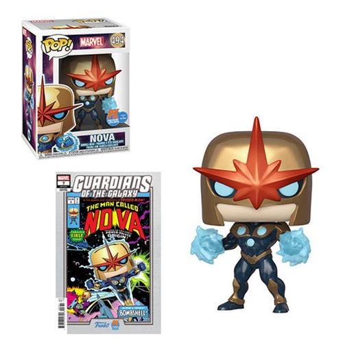 Marvel Guardians of the Galaxy Nova Prime Pop! Vinyl Figure - Previews Exclusive Case of 6 with Variant Comic