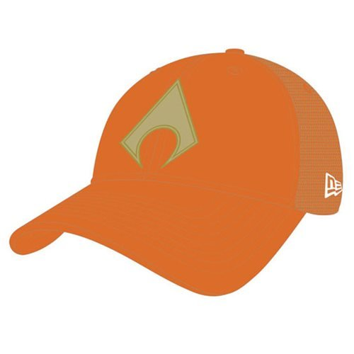 Aquaman Symbol Washed Trucker Snap Back Cap