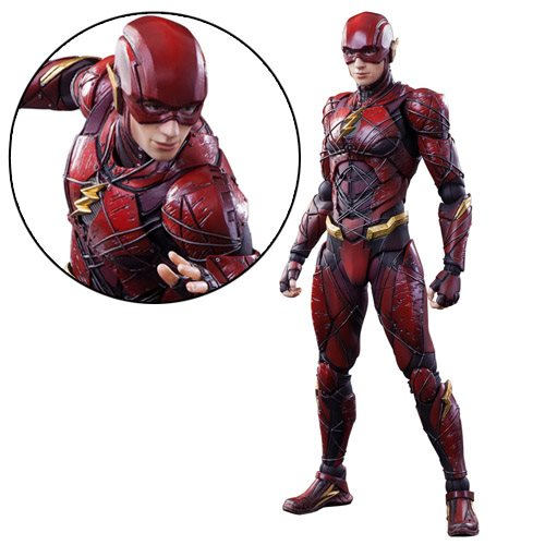 Justice League Movie The Flash Play Arts Kai Action Figure