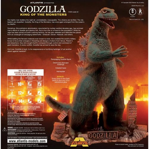 Godzilla King of the Monsters with Glow Parts Plastic Model Kit
