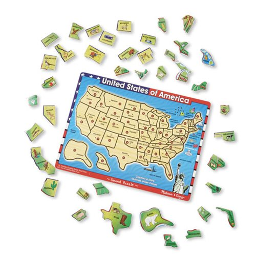 U.S.A. Map Sound Puzzle - Entertainment Earth