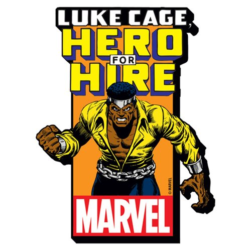 Luke Cage with Comic Logo Funky Chunky Magnet
