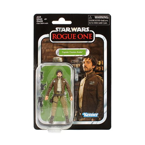 Star Wars The Vintage Collection Captain Cassian Andor 3 3/4-Inch Action Figure, Not Mint