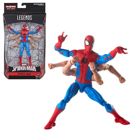 Amazing Spider-Man Marvel Legends Six Arm Spider-Man 6-Inch Action Figure