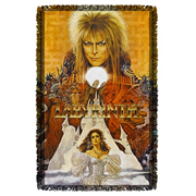Labyrinth Crystal Ball Woven Tapestry Throw Blanket