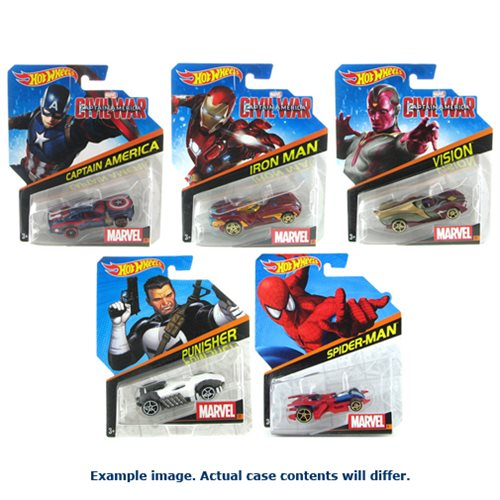 Hot Wheels Marvel Character Cars 1:64 Scale 2017 Wv. 5 Case