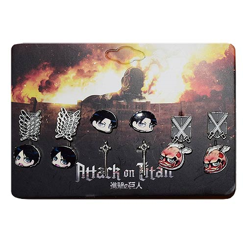 Attack on Titan 6-Pack Stud Earring Set
