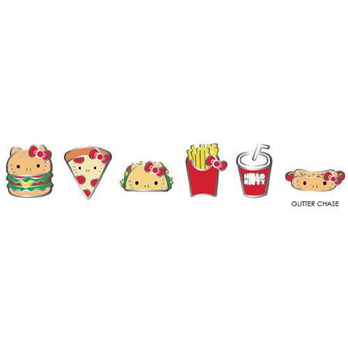 Hello Kitty Snacks Enamel Pin Blind Box 12-Pack Display Tray