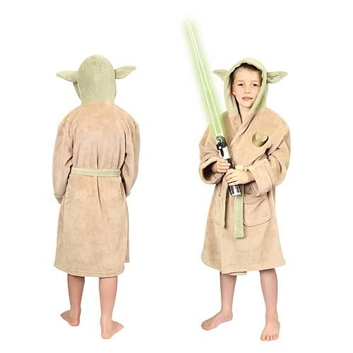 Star Wars Yoda Fleece Bath Robe Kids Small