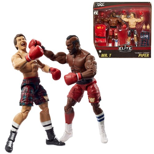 "WWE Elite Collection Mr. T And ""Rowdy"" Roddy Piper Action Figure 2-Pack"