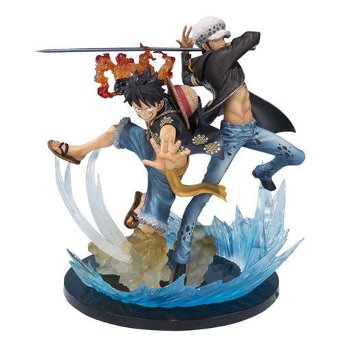 One Piece Monkey D. Luffy and Trafalgar Law 5th Anniversary Edition Figuarts Zero Statue
