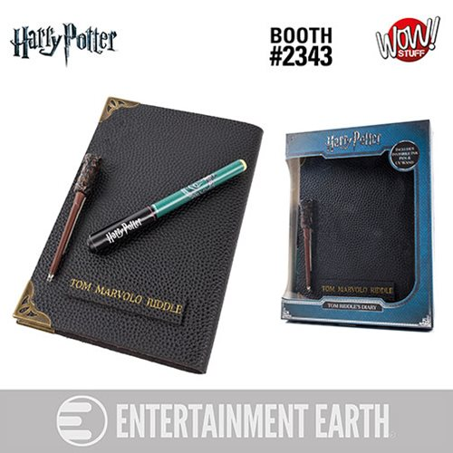Harry Potter Tom Riddle's Diary Notebook and Invisible Wand Pen - Convention Exclusive