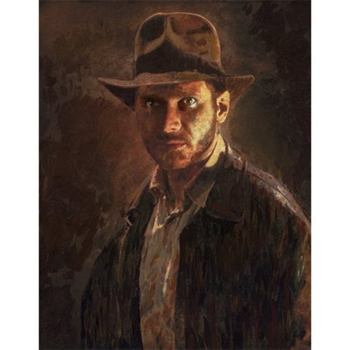 Indiana Jones Portrait of Adventure by Masey Canvas Giclee Art Print
