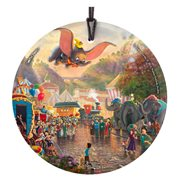 Dumbo Thomas Kinkade StarFire Prints Hanging Glass Ornament