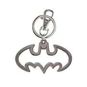 Batman Logo Cut Out Pewter Key Chain