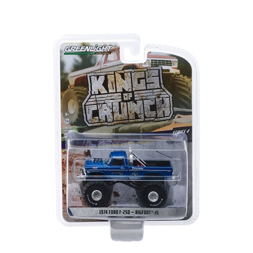 Kings of Crunch Series 4 Bigfoot #1 1974 Ford F-250 1:64 Scale Monster Truck Clean Version