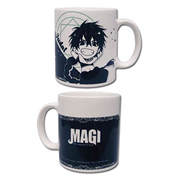 Magi The Labyrinth of Magic Judar Black and White Mug
