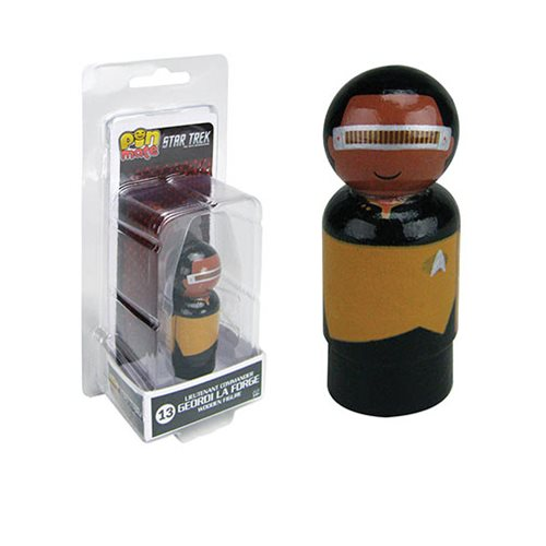 Star Trek: The Next Generation La Forge Pin Mate Wooden Figure