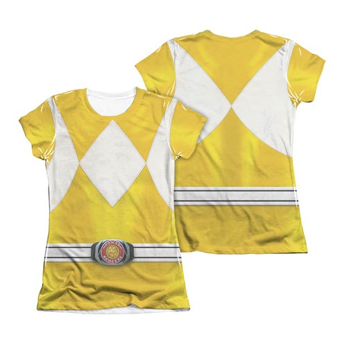 Mighty Morphin Power Rangers Yellow Ranger Juniors T-Shirt