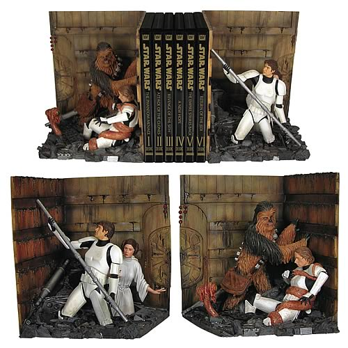 Star Wars Death Star Trash Compactor Bookends Statue
