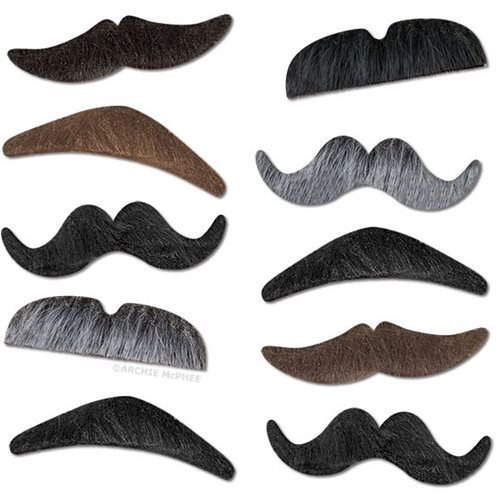 Mustache Party Set of 10