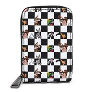 Looney Tunes Checkered Character Accordion Wallet