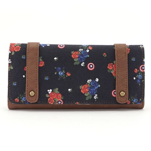 Captain America Floral Wallet