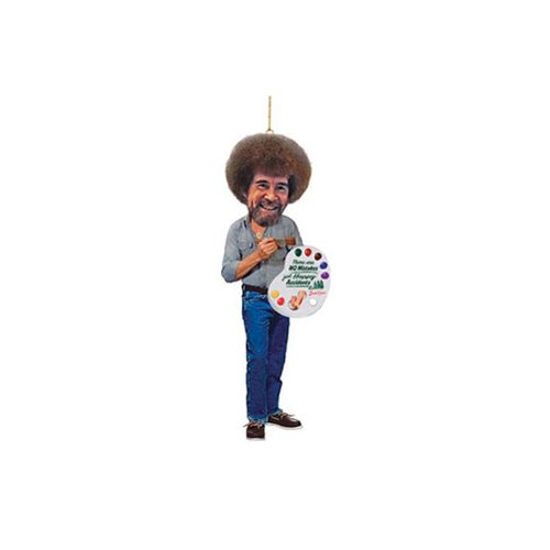 Bob Ross 5-Inch Resin Figural Ornament