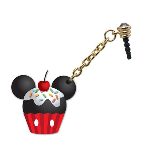 Mickey Mouse Cupcake D-Lish Treats PVC Phone Charm