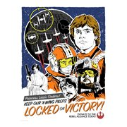 Star Wars: A New Hope Locked on Victory by J.J. Lendl Lithograph Art Print
